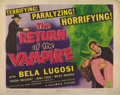 "Movie Posters:Horror, Return of the Vampire (Columbia, 1943). Title Lobby Card (11"" X14""). The bombs of WWII awaken a long contained vampire (Bel..."
