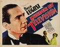 "Movie Posters:Horror, Murder By Television (Imperial-Cameo, 1935). Half Sheet (22"" X28""). Maybe it was a case of the movies earliest fears about ..."