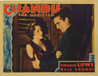 "Chandu the Magician (Fox, 1932). Lobby Card (11"" X 14""). Edmund Lowe stars as the title character, a magician..."