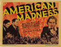 """Movie Posters:Drama, American Madness (Columbia, 1932). Title Lobby Card and Lobby Card (11"""" X 14""""). Frank Capra was the great populist director ... (Total: 2 Items)"""