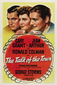 "The Talk of the Town (Columbia, 1942) One Sheet (27"" X 41""). Classic comedy directed by George Stevens stars C..."