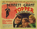 """Movie Posters:Comedy, Topper (MGM, 1937). Title Lobby Card (11"""" X 14""""). Constance Bennettand Cary Grant star in this classic screwball comedy abo..."""