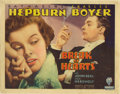 """Movie Posters:Comedy, Break of Hearts (RKO, 1935). Title Lobby Card (11"""" X 14""""). Verynice title card with Katharine Hepburn and Charles Boyer. He..."""