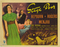 "Movie Posters:Drama, Stage Door (RKO, 1937). Title Lobby Card (11"" X 14""). Edna Ferberand George S. Kaufman's play about actresses living in a b..."