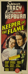 """Movie Posters:Drama, Keeper of the Flame (Loew's, 1942). Insert (14"""" X 36""""). Ajournalist (Spencer Tracy) is researching the life of a nationalh..."""