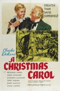 "Movie Posters:Drama, Christmas Carol, A (MGM, 1938). One Sheet (27"" X 41""). MGM's earlyversion of this story is one of the best adaptations of t..."