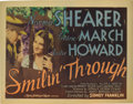 """Movie Posters:Romance, Smilin' Through (MGM, 1932). Lobby Card Set of 8 (11"""" X 14""""). NormaShearer and Fredric March play dual roles in this Sidney... (Total:8 Items)"""