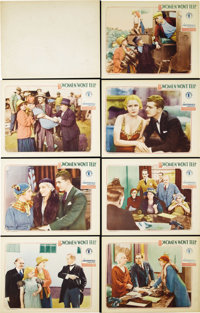 "Women Won't Tell (Chesterfield, 1932). Lobby Cards (7) (11"" X 14""). Richard Thorpe directed this Depression-er..."