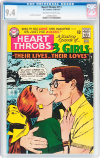 Heart Throbs #111 (Quality/DC, 1966) CGC NM 9.4 Off-white to white pages