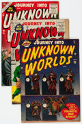 Golden Age (1938-1955):Horror, Journey Into Unknown Worlds Group of 4 (Atlas, 1952-55) Condition:Average VG.... (Total: 4 Comic Books)