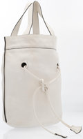"Luxury Accessories:Bags, Marni White Leather Bucket Tote Bag. Good Condition. 15"" Width x 15"" Height x 10"" Depth. ..."
