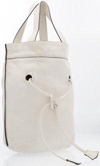 "Marni White Leather Bucket Tote Bag Good Condition 15"" Width x 15"" Height x 10"" Depth"