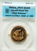 Proof Sets, 2009-S $1 Complete 18 Piece Proof Set, First Releases PR70 Deep Cameo ANACS. This proof set includes: (4)Lincoln Cents; J... (Total: 18 item)