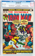 Bronze Age (1970-1979):Superhero, Iron Man #55 (Marvel, 1973) CGC VF/NM 9.0 Off-white to whitepages....