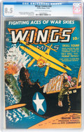 Golden Age (1938-1955):War, Wings Comics #39 (Fiction House, 1943) CGC VF+ 8.5 Light tan tooff-white pages....