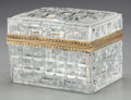 Decorative Arts, French:Other , A Baccarat Cut-Glass and Bronze Desk Casket, 20th century. Marks:BACCARAT FRANCE. 3-3/4 inches high x 5-1/4 inches wide...