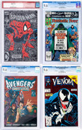 Modern Age (1980-Present):Miscellaneous, Marvel Modern Age CGC-Graded Comics Group of 4 (Marvel, 1982-96) CGC NM+ 9.6 except as noted.... (Total: 4 Comic Books)