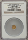 Expositions and Fairs, 1905 Lewis & Clark Exposition, 1/4 Oregon Gold, MS63 NGC....