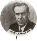 Political:Pinback Buttons (1896-present), Henry A. Wallace: Scarce Picture Pin....
