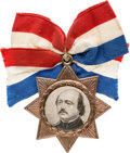 Political:Ferrotypes / Photo Badges (pre-1896), Benjamin F. Butler: Portrait Badge....
