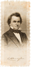 Political:Ribbons & Badges, Stephen A. Douglas: Single Portrait Brady Ribbon....