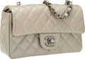 "Luxury Accessories:Bags, Chanel Taupe Quilted Patent Leather Mini Flap Bag with GunmetalHardware. Excellent Condition. 8"" Width x 4"" Height x..."