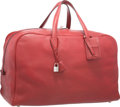 Luxury Accessories:Travel/Trunks, Hermes 50cm Rouge H Clemence Leather Victoria Voyage Bag withPalladium Hardware. G Square, 2003. Very GoodCondition...