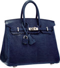 Luxury Accessories:Bags, Hermes 25cm Blue de Malte Nilo Lizard Birkin Bag with PalladiumHardware. O Square, 2011. Excellent to PristineCondit...