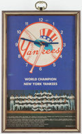 Baseball Collectibles:Others, 1977 New York Yankees Wall Clock - Working Condition (WorldChampionship Season). ...