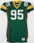 Football Collectibles:Uniforms, 1996 Keith McKenzie Game Worn Green Bay Packers Jersey....