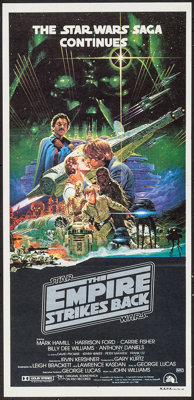 "The Empire Strikes Back (20th Century Fox, 1980). Australian Post-War Daybill (13.25"" X 28""). Science Fiction..."