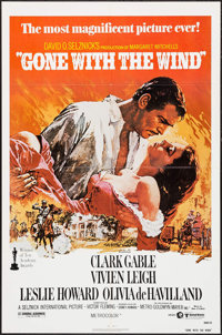 "Gone with the Wind (MGM, R-1980). One Sheet (27"" X 41""). Academy Award Winners"