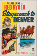 """Movie Posters:Western, Stagecoach to Denver (Republic, 1946). One Sheet (27"""" X 41""""). Western.. ..."""