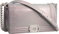 """Luxury Accessories:Bags, Chanel Iridescent Purple Patent Leather Boy Bag with SilverHardware. Very Good to Excellent Condition. 10"""" Width x5...."""
