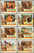"Movie Posters:Adventure, Jungle Man-Eaters (Columbia, 1954). Lobby Cards (13) (11"" X 14"").Adventure.. ... (Total: 13 Items)"