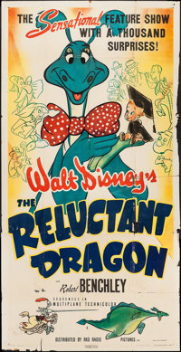 """The Reluctant Dragon (RKO, 1941). Three Sheet (41"""" X 80""""). Animation"""