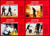 """For Your Eyes Only (United Artists, 1981). Italian Photobusta Set of 8 (13"""" X 18""""). James Bond. ... (Total: 8..."""