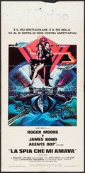"Movie Posters:James Bond, The Spy Who Loved Me (United Artists, 1977). Italian Locandina (13.5"" X 27.5""). James Bond.. ..."