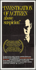 "Movie Posters:Foreign, Investigation of a Citizen Above Suspicion & Others Lot (Columbia, 1971). Three Sheet (41"" X 78"") and One Sheets (2) (26.75""... (Total: 3 Items)"