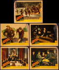 "Movie Posters:War, Commandos Strike at Dawn & Others Lot (Columbia, 1942). LobbyCards (5) (11"" X 14""), Herald (7"" X 11""), and Uncut Pressbook ...(Total: 7 Items)"