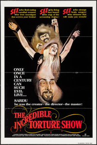 """The Incredible Torture Show & Others Lot (AFDC, 1976). One Sheets (78) (27"""" X 41""""). Horror. ... (Total: 78..."""
