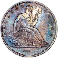 1838 $1 Name Omitted, Judd-84 Restrike, Pollock-93, R.5, PR65 NGC....(PCGS# 11352)