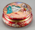Decorative Arts, French:Other , A French Enameled Powder Box, early 20th century. 5-1/8 inchesdiameter (13.0 cm). ...