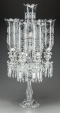 Lighting:Candelabra, A Baccarat Etched Glass Seven-Light Candelabrum, 20th century. Marks: BACCARAT, FRANCE. 33-1/4 inches high x 16 inches d...