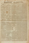 Books:Periodicals, [War of 1812]. [Newspaper] Boston Gazette. No. 37 of Vol.40. Thursday, April 28, 1814....