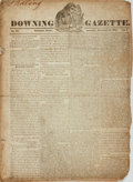 Books:Periodicals, [Portland, Maine Newspaper]. Jack Downing [editor]. DowningGazette. November 29, 1834. ...
