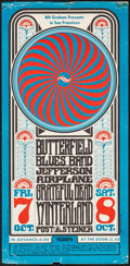 """Movie Posters:Rock and Roll, Butterfield Blues Band, Jefferson Airplane, & Grateful Dead atThe Winterland (Bill Graham, 1966). Concert Poster (11.75"""" X ..."""