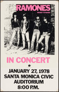 "Movie Posters:Rock and Roll, The Ramones: Rocket to Russia (Sire Records, 1978). Concert Poster(14"" X 22""). Rock and Roll.. ..."