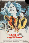 """Movie Posters:Foreign, Santo vs. Doctor Death (Cinematografica Pelimex, 1973). Spanish Poster (26.75"""" X 39""""). Foreign.. ..."""