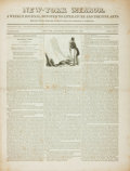 Books:Periodicals, [Newspaper]. New-York Mirror: A Weekly Journal, Devoted toLiterature and the Fine Arts. September 15, 1838....